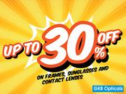 Shop Stylish Branded Eyewear at Upto 30% off at GKB Opticals