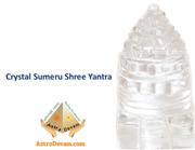 Natural Crystal Sumeru Shree Yantra