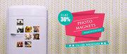 Flat 30% OFF on PhotoMagnets @Recapture