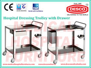 Hospital Dressing and Instrument Trolley Manufacturer India